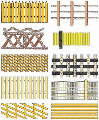 Инструкция по изготовлению забора из деревянного штакетника