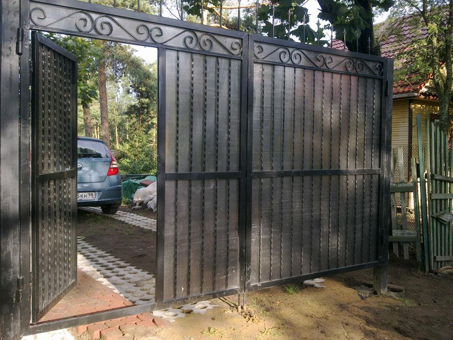 Дачные Ворота Распашные с Калиткой Своими Руками Для Садового Участка