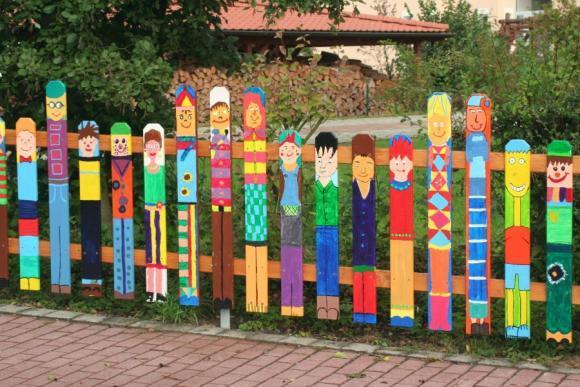 Детский забор своими руками