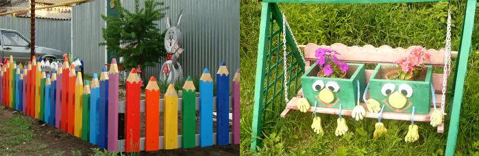 Украсить забор своими руками с фото