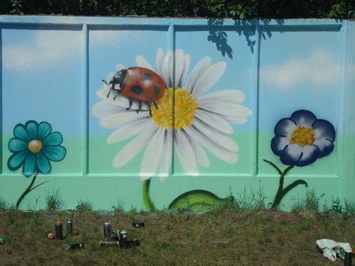 Рисунок на заборе – инструкция, как и чем нанести рисунок своими ...