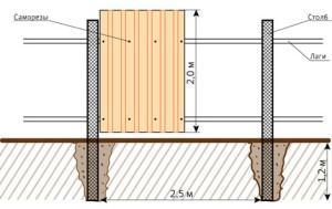 Как правильно возвести забор из шифера