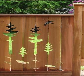 Искусство создания оригинальных деревянных заборов
