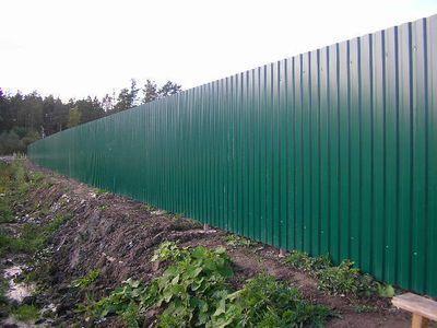 Забор из профнастила своими руками - легко!
