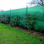 Забор из пластиковый сетки