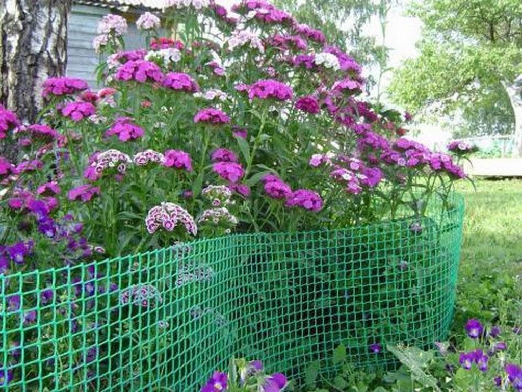 Садовая пластиковая сетка для забора